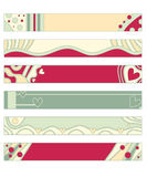 Red, green and beige banner or button collection Stock Photo