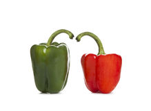 Red and Green Bell Pepper Stock Image