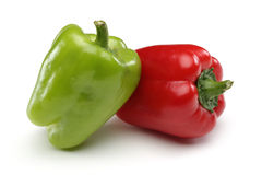 Red and Green Bell pepper stock photo