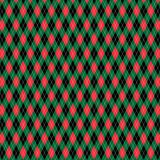 Red green black Christmas argyle pattern royalty free illustration