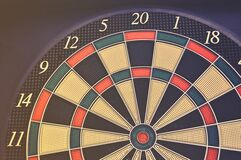 Red Green and Black Dartboard royalty free stock image