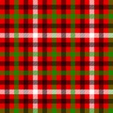 Red green and black tartan traditional fabric seamless pattern, vector vector illustration