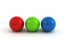 Red green blue balls Royalty Free Stock Photography