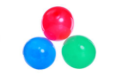 Red, blue and green balloons Royalty Free Stock Photo