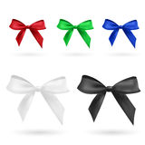 Red, green, blue, black and white bow. Isolated on white royalty free illustration