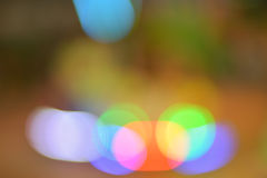 Red green blue bokeh abstract light background Stock Photo