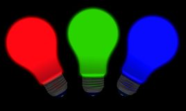Red Green Blue Bulbs Royalty Free Stock Images