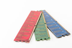 Red green blue color of ram for pc. On Stock Photography