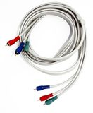Red green and blue component cables Royalty Free Stock Photo