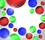 Red green blue 3D balls, colorful background Royalty Free Stock Photos