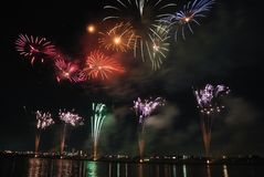 Red Green and Blue Fireworks during Nighttime Stock Photos