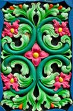 Red, green and blue floral design Stock Photos