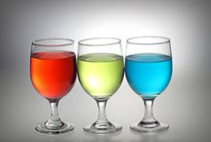 Red, green, blue liquid Royalty Free Stock Photography