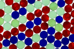 Red Green Blue Marbles Stock Images