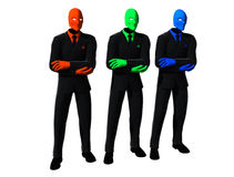 Red, Green and Blue Men stock image