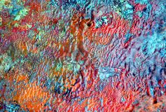 Paint red blue pastel soft background, hues, watercolor paint background. Red green blue orange gray phosphorescent colorful background, hues, blurred vivid royalty free illustration