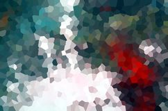 Diamond like forms, abstract background in colorful hues. Red green blue orange gray phosphorescent diamond like forms and shapes, graphics. Geometries royalty free illustration
