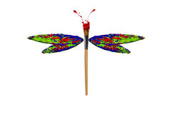 Red green blue paint made dragonfly. Red green blue paint made conceptual dragonfly vector illustration