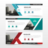 Red green blue polygon corporate business banner template, horizontal advertising business banner layout template flat design set Stock Image