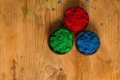 Red, Green and Blue: RGB color system Royalty Free Stock Photos