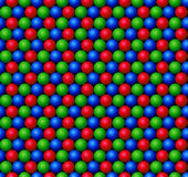 Red, Green and Blue spheres Stock Photography