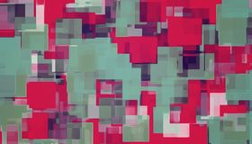 Red green and blue square pattern. Abstract background stock illustration