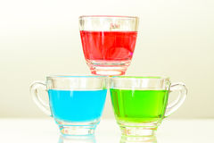 Red, green and blue water Stock Image