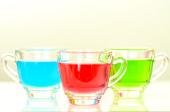 Red, green and blue water Stock Photo