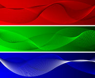 Red green and blue wavy backgrounds Royalty Free Stock Photo