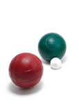 Red & Green Bocce Balls & Pallino(Jack or Boccino) Royalty Free Stock Photo