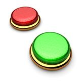 Red and green botton Stock Images