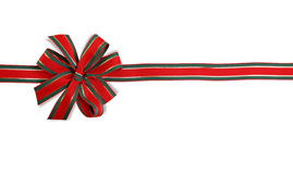 Red and green bow Stock Image