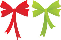 Red an green bow. Stock Photo