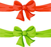 Red and green bow illustration Royalty Free Stock Images