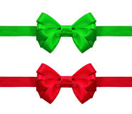 Red and green bow Royalty Free Stock Photo