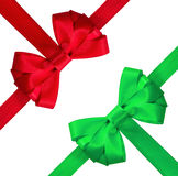 Red and green bow Stock Images