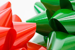 Red and green bows Royalty Free Stock Image