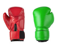 Red and Green boxing gloves Royalty Free Stock Image