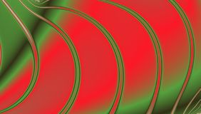 Red and green bright fractal with lines and circles in spectral colors. Red and green bright fractal in spectral colors stock illustration