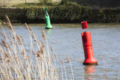 Red and green buoy Stock Photo