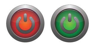 Red and green button Royalty Free Stock Image
