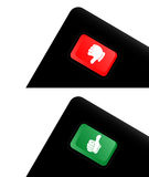 Red and green button Royalty Free Stock Photography