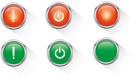 Red and green button Royalty Free Stock Images
