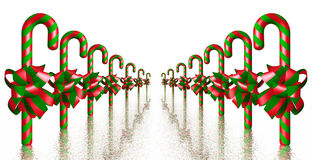 Red and Green Candy Canes Stock Images