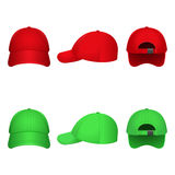 Red and Green Caps. On a white background Royalty Free Stock Photography