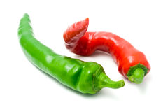 Red and green cayenne Stock Images