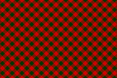 Red green check diagonal seamless background Stock Images