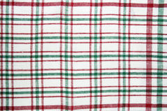 Red and green checkered tablecloth texture Royalty Free Stock Images