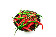 Red and Green chili Royalty Free Stock Photography