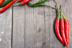 Red and green chili Stock Image